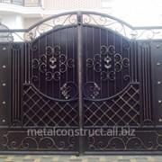 Ворота коттеджные №36 фото