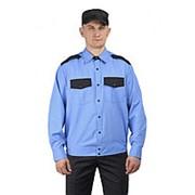 """Рубашка мужская """"Охрана"""" длинный рукав на резинке. Размер 43 Рост 182 фото"""