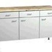 Стол трехдверный с тремя выдвижными ящиками 1500х600х750 СЛР 8.4.5 фото