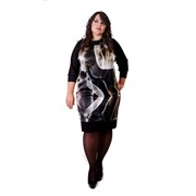 Платье трикотажное, вставка из натурального итальянского шелка, коллекция Escada фото