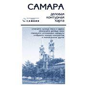 Деловая контурная карта САМАРА размер 1280х880 мм фото