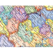 Настенные карты Федеральных округов России фото