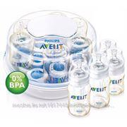 Avent АВЕНТ, НАБОР для новорожд., со стерилизатором для СВЧ фото