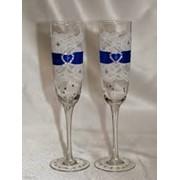 Свадебные бокалы для молодоженов фото