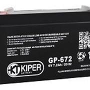 Аккумуляторная батарея Kiper GP-672 6V/7.2Ah фото