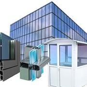 Конструкции торговые из алюминиевого профиля (сплав АА 6063 и АА 6060) фото