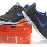 Кроссовки Nike Free 3.0 V2 Black Sky Blue White фото