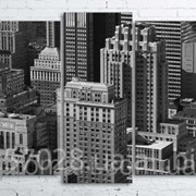 Модульна картина на полотні Нью-Йорк. Манхеттен код КМ100200(176)-105-2 фото