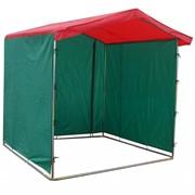 Палатка торговая (Зелено-красная) фото