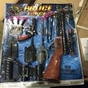 Полицейский набор с биноклем AK012-1 на листе фото
