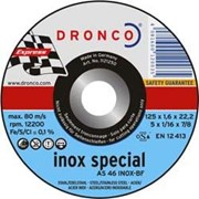 Отрезной круг по нерж. тонкий AS46 INOX special фото