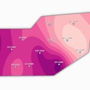 Аналіз просторового розподілу вмісту породи за кернами фото