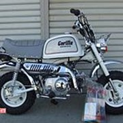 Мопед мокик Honda Monkey Gorilla рама AB27 Новый New Bike Minibike багажник пробег 0 км белый серебристый фото