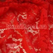 Ткань Гипюр Папоротник ( красный) 4475 фото