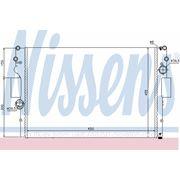 Радиатор охлаждения IVECO (пр-во Nissens) фото