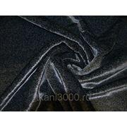 Мех искусственный мутон черно - серый фото