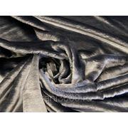 Мех искусственный мутон серый фото