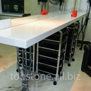 Мебель для парикмахерских, столешницы из искусственного камня фото