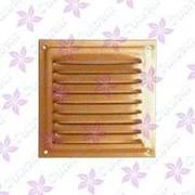 Решетка вентил. 100*100 полимерное покрытие золото/200/ фото