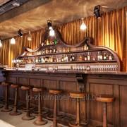 Отделка баров, ресторанов из дерева фото