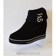 Ботинки женские черные Allshoes 20-88 фото