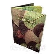 Прикольная обложка для паспорта Листья фото