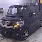 Микровэн турбо HONDA N BOX PLUS кузов JF1 класса минивэн модификация Custom G Turbo 2014 пробег 106т.км черный фото