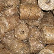 Продажа топливгых брикетов из соломы фото