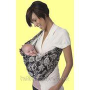 Слинг-карман Hotslings Designer Black Ecru Floral фото