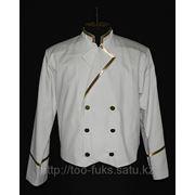 Пиджак белый банкентный фото