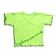 Рубашка для новорождённого 3359/1-л ластик, размер 52-80 фото