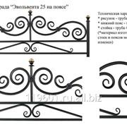 Ограда металлическая Эволента 25 н/п 2300х2300 фото