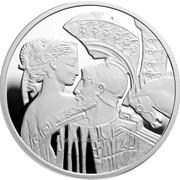 Знаменитые истории о любви. Парис и Елена - Серебряная монета в футляре фото