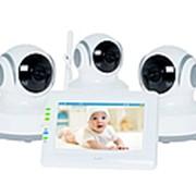 Видеоняня Ramili Baby RV900X3 (Звук, термометр, ночное видение, колыбельные мелодии) фото