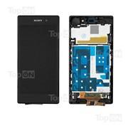 Матрица и тачскрин (сенсорное стекло) в сборе для смартфона Sony Xperia Z1 L39H, черный фото