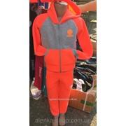 Детский спортивный костюм Franklin Marshal на флисе на 5-10 лет оранжевый, код товара 141901045 фото