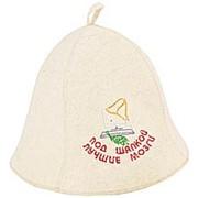 Шляпа с вышивкой (для бани, сауны) фото