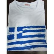 Футболка с флагом Греции фото