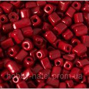 Бисер крупный темно-красный (100 г) фото
