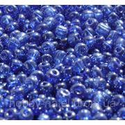 Бисер крупный темно-синий (100 г) фото