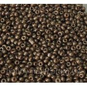 Бисер мелкий серо-коричневый металлик (100 г) фото