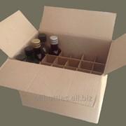 [Copy] Картонный ящик 300х200х220 мм с решеткой-перегородкой на 24 ячейки под бутылку Мараска 0,25 л фото