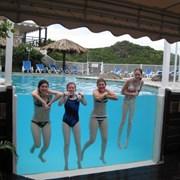 Прозрачные борта для бассейнов фото