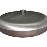 Сковорода утолщеная ø 360. Сковорода жаровня с крышкой и жаростойкой кнопкой. фото