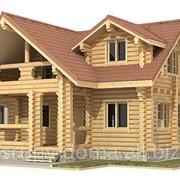 Акция - 1350 грн. за м² по стене. Изготовление срубов и строительство баз отдыха из дерева по Украине. фото