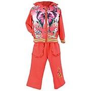 Красивый костюм красного цвета с бабочкой L фото