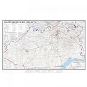 Карта областная Карагандинская, масштаб 1:1 000 000, 680*1110 мм, не ламинированная фото