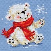 Набор для вышивания Белый медвежонок фото