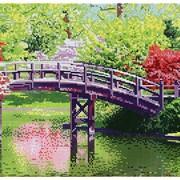 Схема для полной вышивки бисером Мост фото