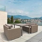 Комплект плетеной мебели T256B/S52B-W56 Light brown фото